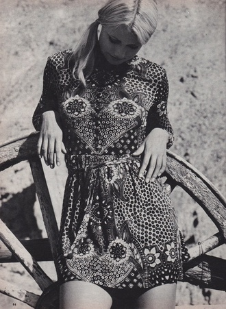 dress paisley summer bohemian vintage