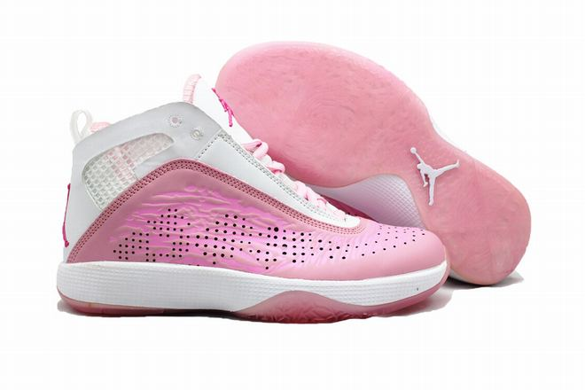 new 2011 jordan women sneakers pink white
