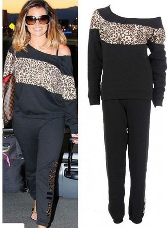 leopard print pajamas celebrity tacksuit leopard print jogging suit tracksuit celebrity style jogging suit jogging set