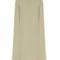 Cape-back silk-cady midi dress