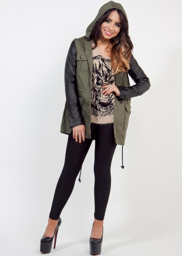 Leather Army Green Jacket - Shop for Leather Army Green Jacket on ...