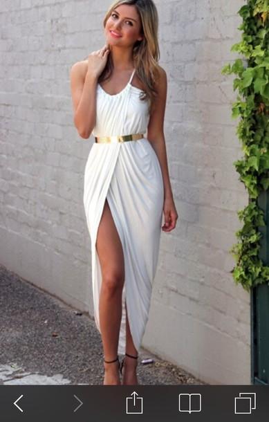 dress white dress summer dress greek style
