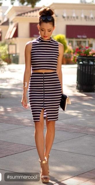 dress striped dress chic summer dress