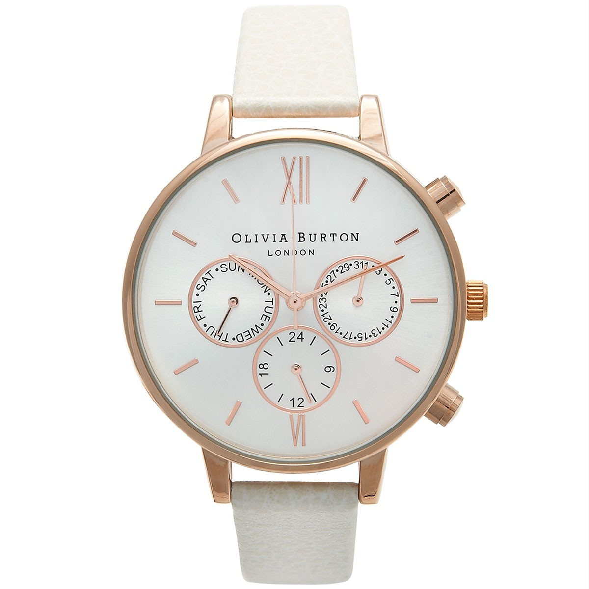 Olivia Burton Big Dial Chrono Detail Mink and Rose Gold OB13CG01