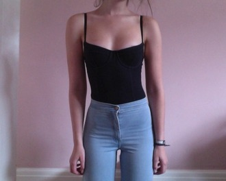 top denim girl high waisted light wash high waisted jeans