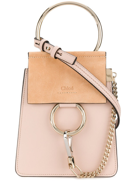 Chloe women bag leather suede purple pink