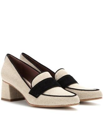 pumps suede beige shoes