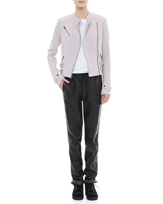 A.L.C. Malto Cotton Jacket, Cotton Muscle Tank & Tony Drawstring Leather Pants - Neiman Marcus