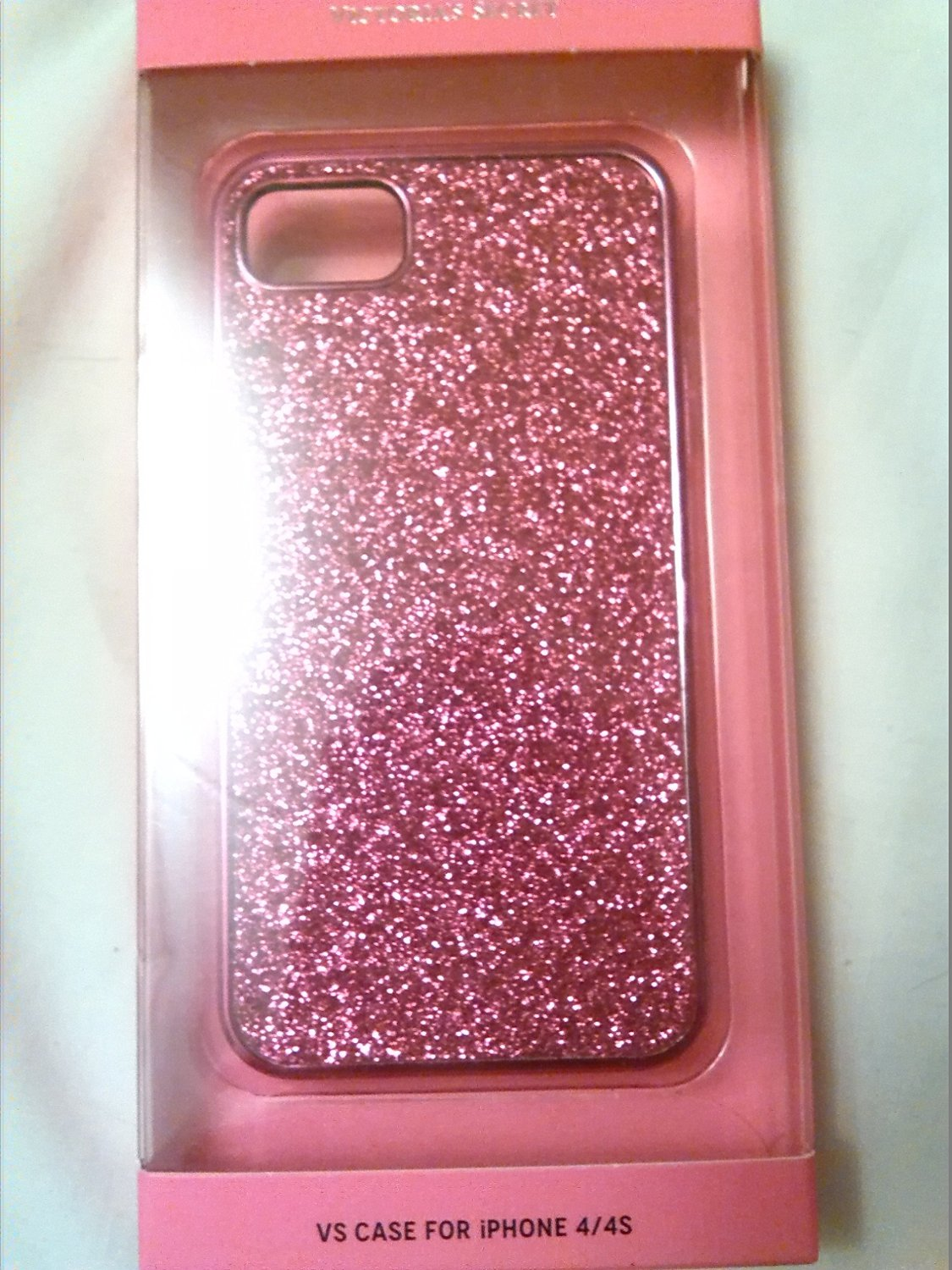 save off fdb49 bc6bf Amazon.com: Victoria Secret Pink Sparkles Iphone 4/4s Case: Cell Phones &  Accessories