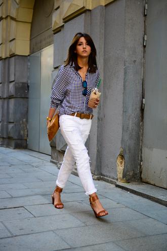 lovely pepa shirt jeans shoes bag sunglasses jewels belt blouse