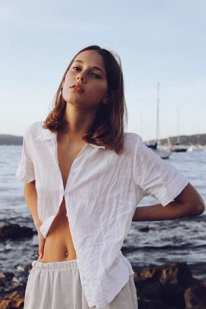 blouse white blouse summer white