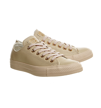 Converse All Star Low Leather Pastel Rose Tan Rose Gold ...