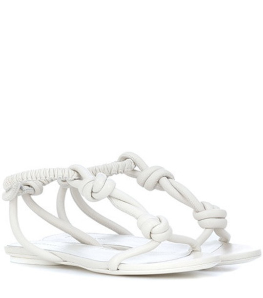 Jil Sander Leather sandals in white