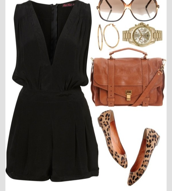 romper black shoes