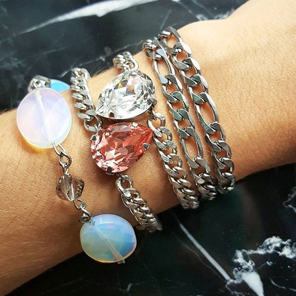 jewels chain jewelry stainless steel jewelry watch with stainless steel bracelet