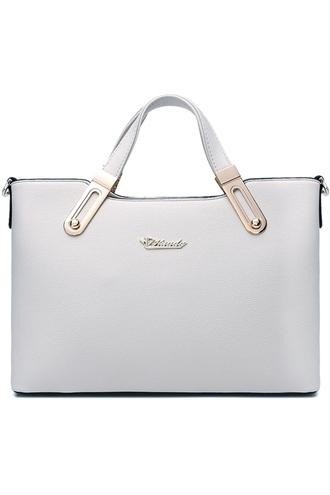 bag white tote bag pu