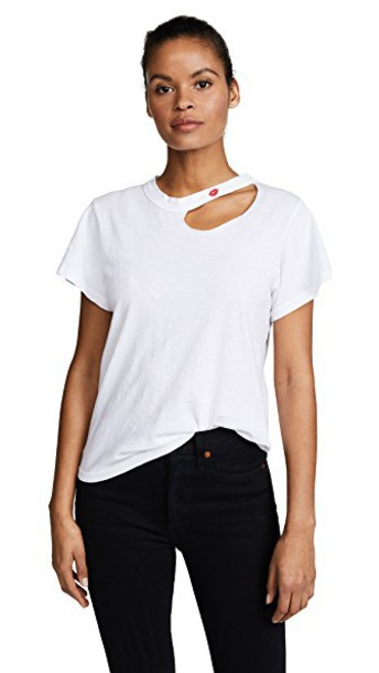 LnA embroidered white top