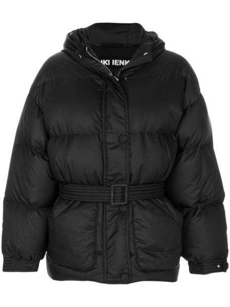 jacket puffer jacket women spandex cotton black