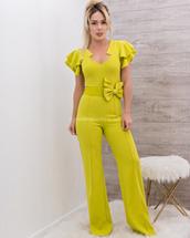 jumpsuit,moda fina boutique,vera ruffle belted front tie jumpsuit