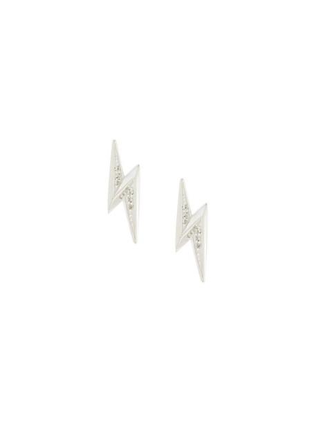 Astley Clarke mini women earrings stud earrings silver grey metallic jewels