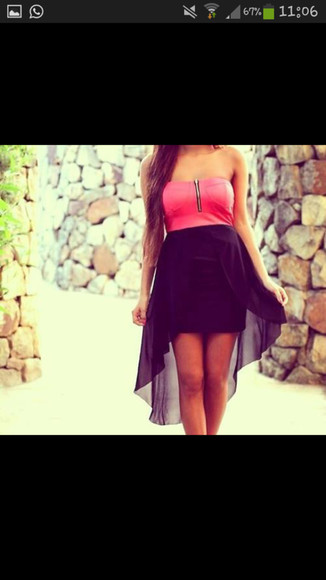 pink dress strapless dresses little black dress