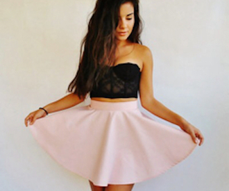 top bandeau skirt