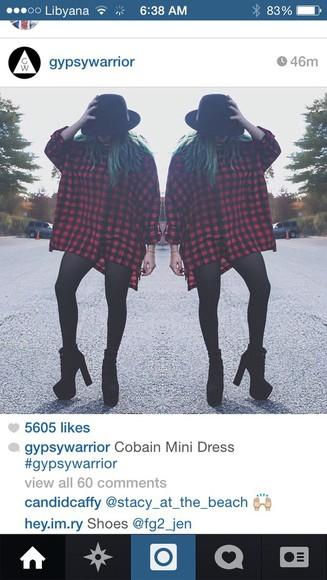 mini dress plaid mini dres short/mini dress