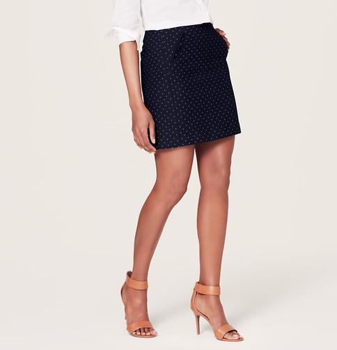 Tiny Dot Shift Skirt | Loft