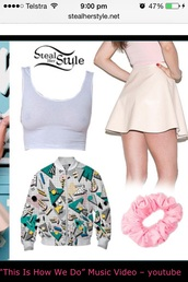white. katy perry this is how we do,cream. katy pery this is how we do,hair accessory,katy perry this is how we do.   pink,katy perry this is how we do.,top,katy perry t shirt