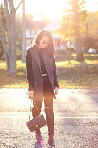 refined couture blogger jacket top jeans shoes bag belt sunglasses jewels