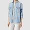 Allsaints uk: womens birds denim shirt (indigo blue)