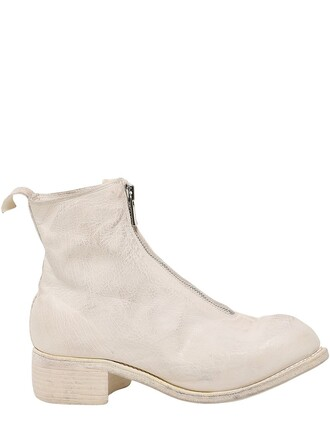 boots leather boots leather white shoes