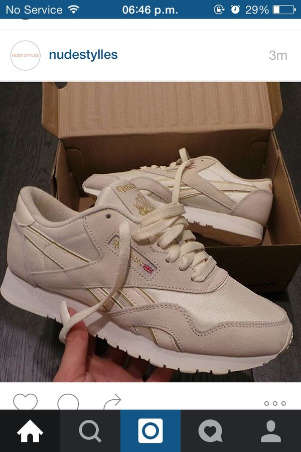 Reebok Classics Shoes Nylon Neutrals Brown Grey White Beige