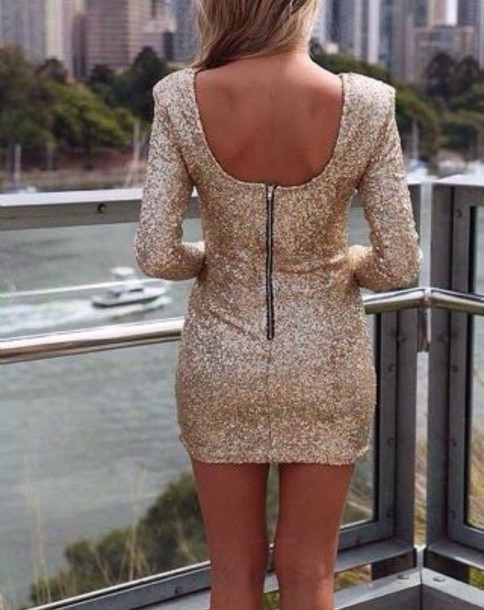 dress champagne sequin dress