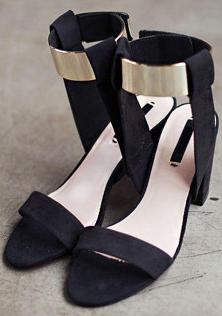 Women's ankle sheetmetal decoration high heels online