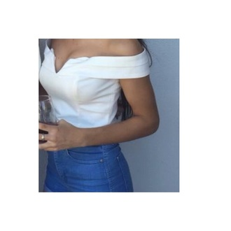 shirt white top crop tops off the shoulder fancy crop top bustier off the sholder white shirt white top white crop tops