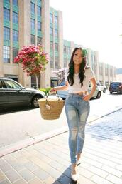 hautepinkpretty,blogger,jeans,jewels,bag,sunglasses