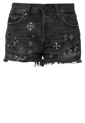 Levi's® ICONS 501 - Denim shorts - black - Zalando.co.uk