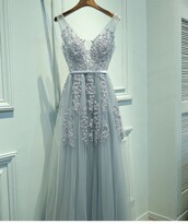 dress,prom,girl,girly,grey,prom dress,baby blue,long prom dress,light blue,long dress,lace,straps,v neck dress,low back dress,zipper dress,a line dress,blue,flowers,a line prom gowns,tulle skirt,decal,tulle dress,prom gown,sleeveless dress,sleeveless,rose decal,formal,homecoming,evening dress,homecoming dress,gown,baby blue dress,flowy