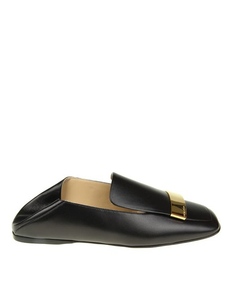 metal loafers gold leather black black leather shoes