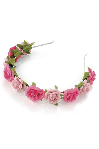 Ladies Leigh Two Tone Flower Head Band at Pop Couture UK