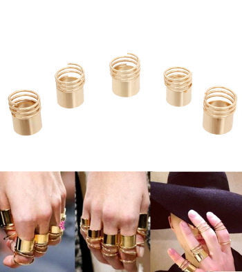 5 Piece Stacked Ring Set