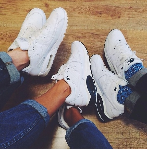 shoes air max black and white nike sneakers white trainers