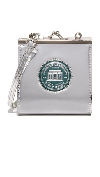 cross purse silver bag