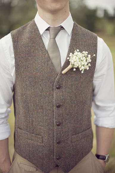wedding clothes jacket vest tweed
