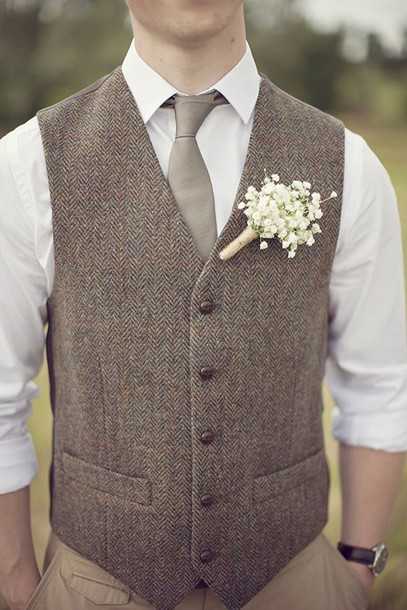 Jacket Vest Wedding Tweed Hipster Wedding Menswear