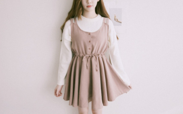 Dress Tumblr Outfit Cute Top Korean Fashion Korean Style Clothes Wheretoget