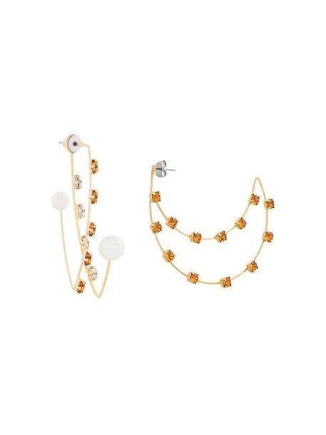 Cityshop women earrings silver grey metallic jewels