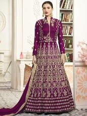 dress,ethnic wear,partywear,designer suit,anarkali suit,gauhar khan,bollywood suit