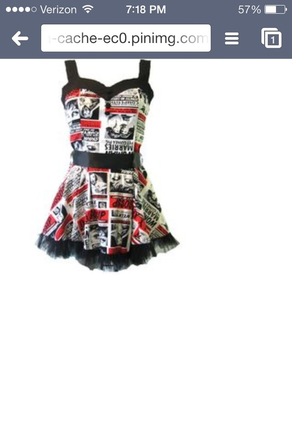 dress newsprint